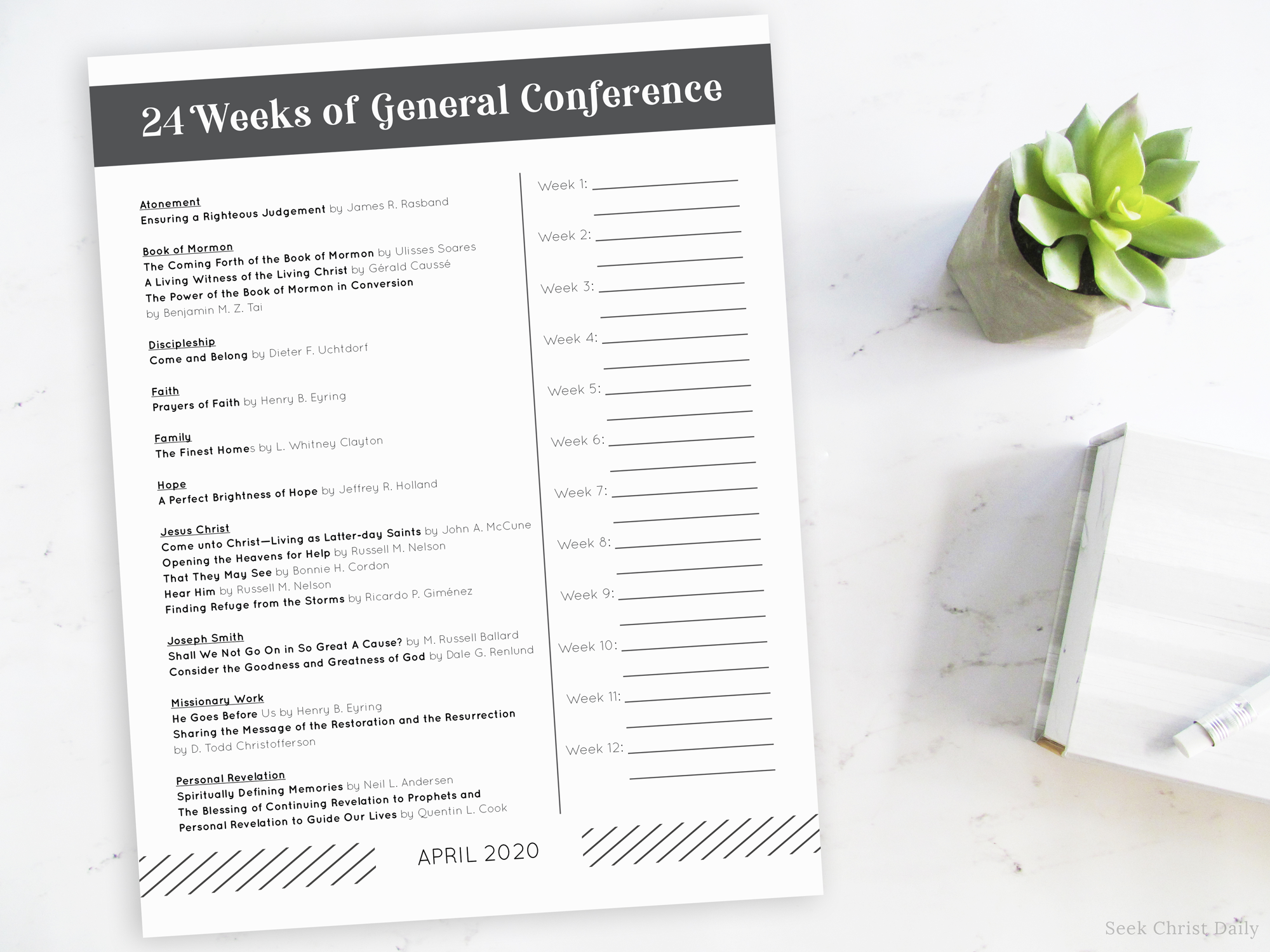 24 Weeks of General Conference