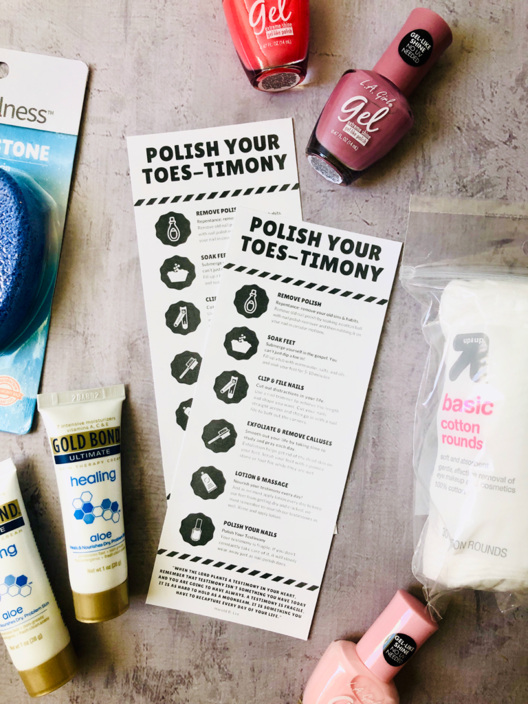 Polish Your Toes-timony Handout