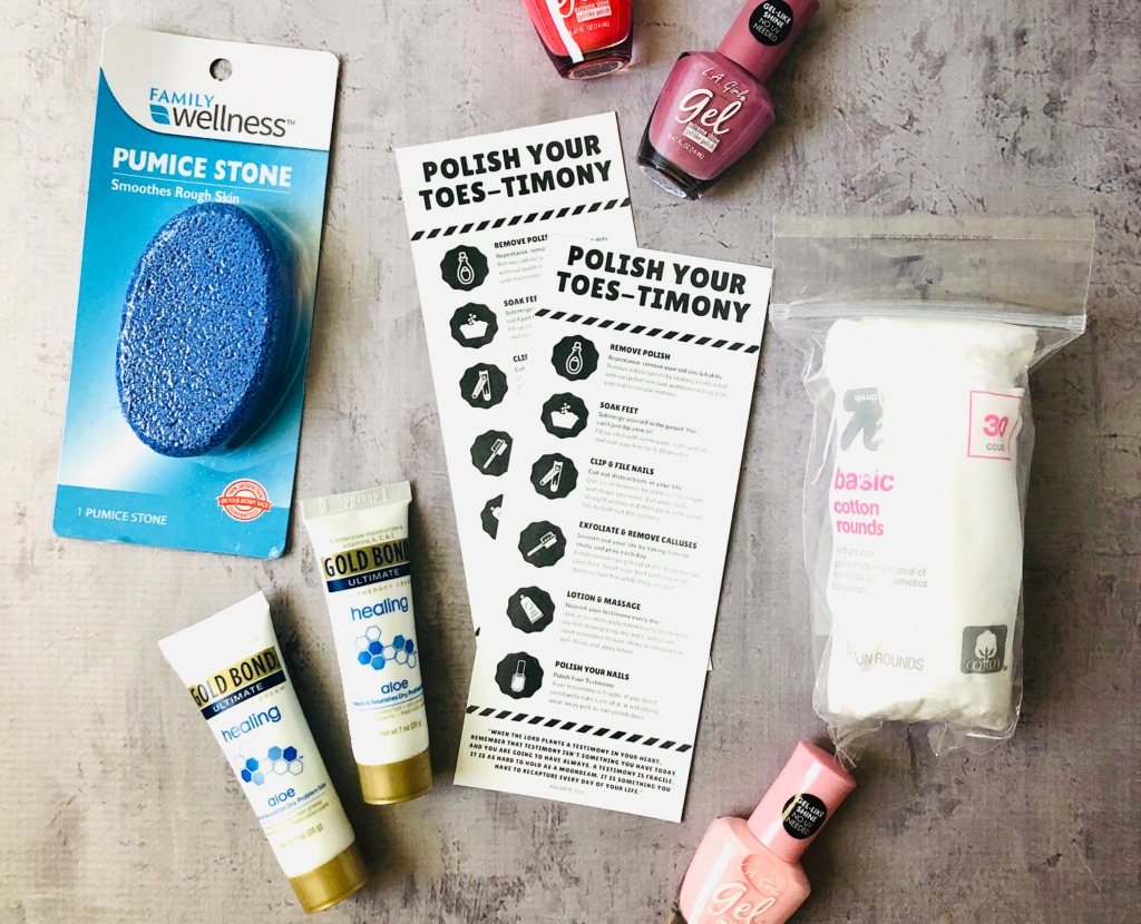 Polish Your Toestimony Young Women Activity Idea and Printable